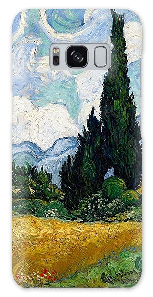 Galaxy Case featuring the painting Wheatfield With Cypresses by Van Gogh