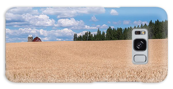 Wheat Fields Galaxy Case by Sharon Seaward