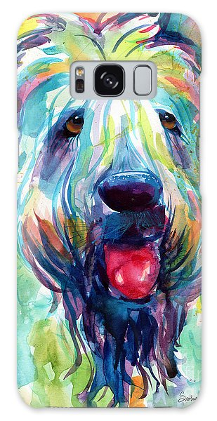 Wheaten Terrier Dog Portrait Galaxy Case