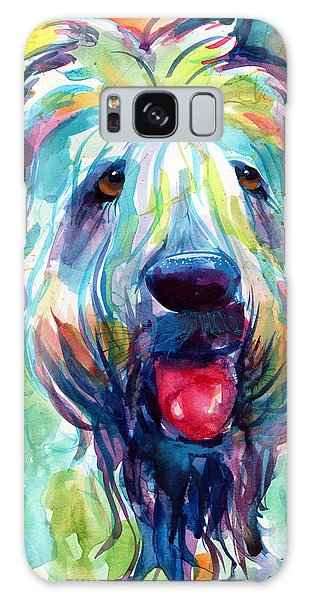 Watercolor Pet Portraits Galaxy Case - Wheaten Terrier Dog Portrait by Svetlana Novikova