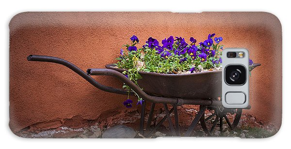 Wheelbarrow Full Of Pansies Galaxy Case