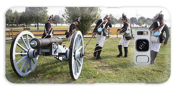 Wheeling The Cannon At Fort Mchenry In Baltimore Maryland Galaxy Case