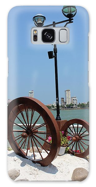 Wheels By The Water Galaxy Case
