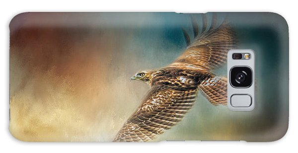 When The Redtail Flies At Sunset Hawk Art Galaxy Case