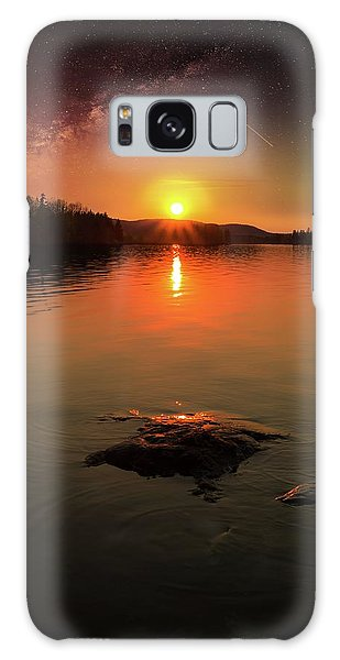 Where Heaven Touches The Earth Galaxy Case by Rose-Marie Karlsen