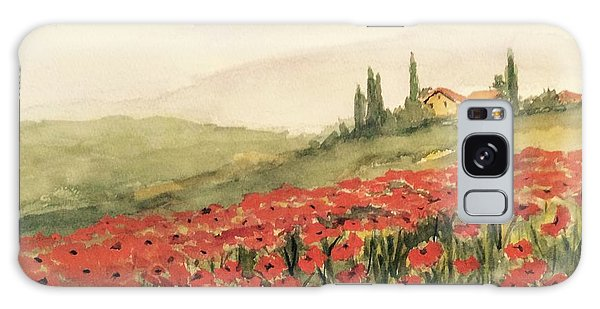 Where Poppies Grow Galaxy Case by Heidi Patricio-Nadon