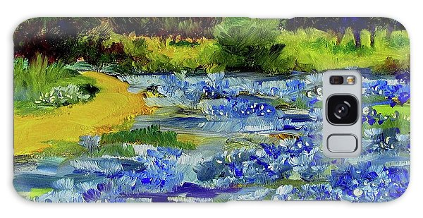 Where The Beautiful Bluebonnets Grow Galaxy Case