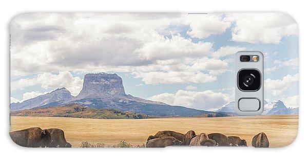 Where The Buffalo Roam Galaxy Case by Alex Lapidus