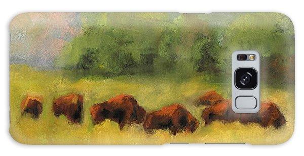 Where The Buffalo Roam Galaxy Case by Frances Marino