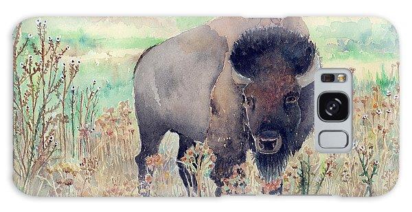 Where The Buffalo Roams Galaxy Case by Arline Wagner