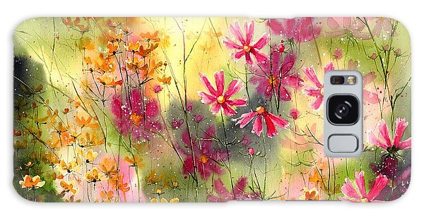 Indianapolis Galaxy Case - Where The Pink Flowers Grow by Suzann Sines