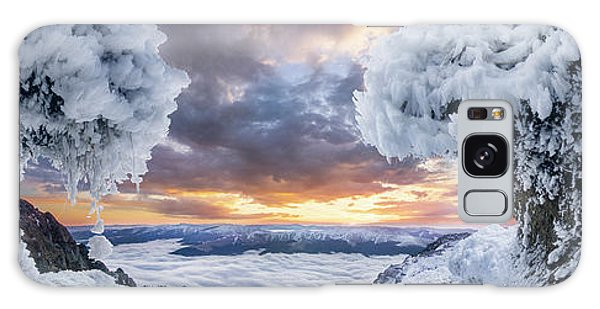 Mountain Sunset Galaxy S8 Case - Where The Waves Collide by Adrian Borda