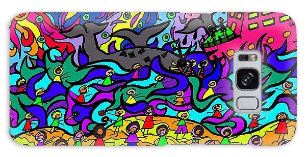 Galaxy Case - Where The Whales Play by Karen Elzinga