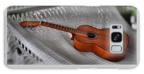 While My Guitar Gently Sleeps Galaxy Case by Jim Walls PhotoArtist