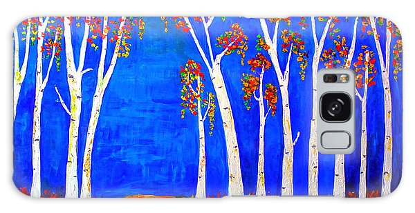 Whimsical Birch Trees Galaxy Case