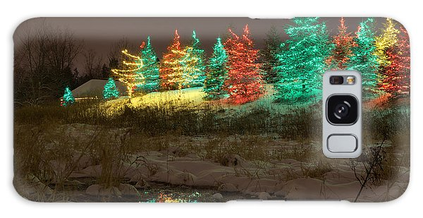 Whimsical Christmas Lights Galaxy Case
