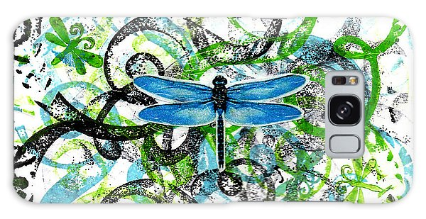 Whimsical Dragonflies Galaxy Case by Genevieve Esson