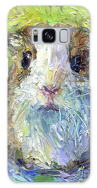 Whimsical Guinea Pig Painting Print Galaxy Case