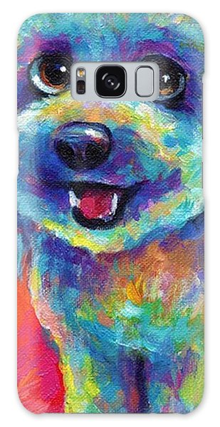 Whimsical Labradoodle Painting By Galaxy Case