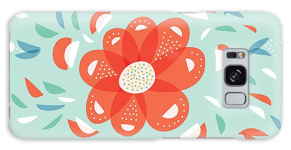 Whimsical Red Flower Galaxy Case