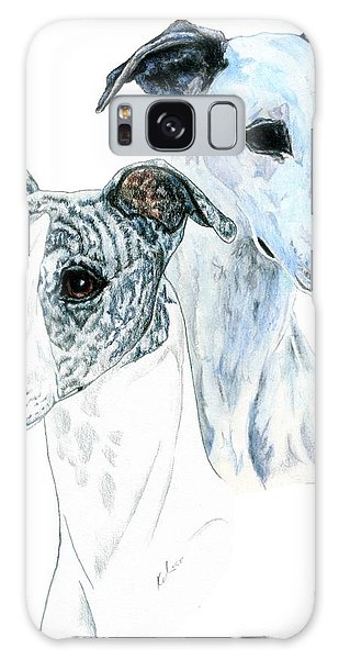 Sighthound Galaxy Case - Whippet Pair by Kathleen Sepulveda