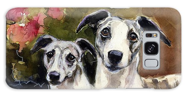 Whippets Galaxy Case by Molly Poole