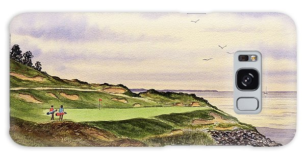 Whistling Straits Golf Course Hole 7 Galaxy Case by Bill Holkham