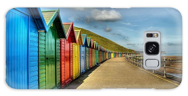 Whitby Beach Huts Galaxy Case
