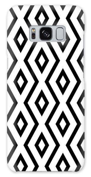 White And Black Pattern Galaxy Case