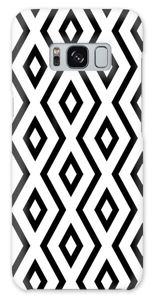 White And Black Pattern Galaxy Case by Christina Rollo