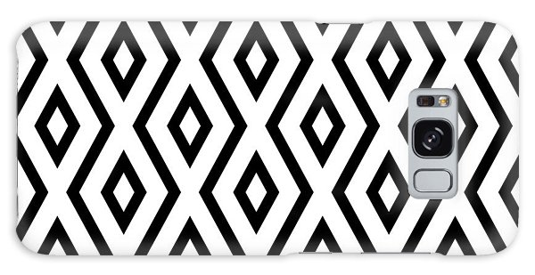 Shapes Galaxy Case - White And Black Pattern by Christina Rollo