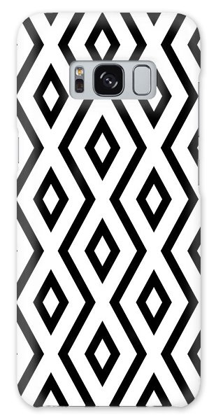 White Galaxy Case - White And Black Pattern by Christina Rollo
