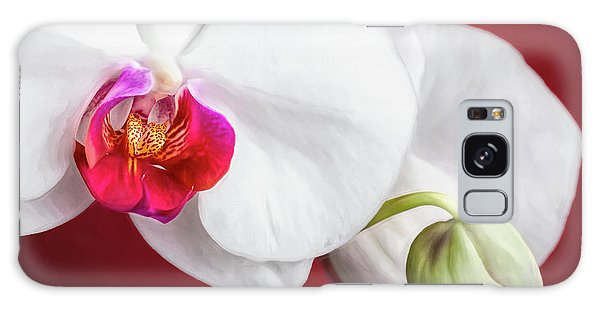 Orchid Galaxy Case - White And Red Orchids by Tom Mc Nemar