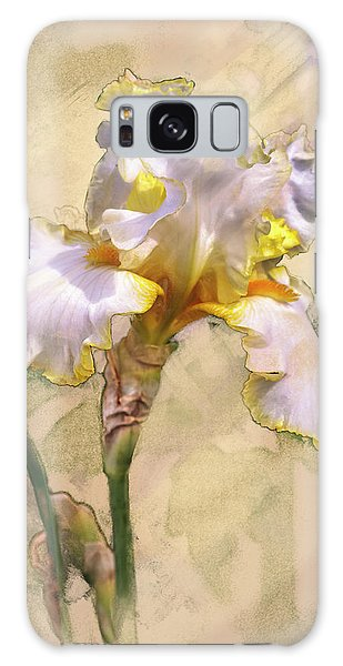 White And Yellow Iris Galaxy Case