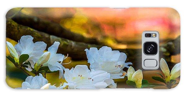 White Azaleas In The Garden Galaxy Case