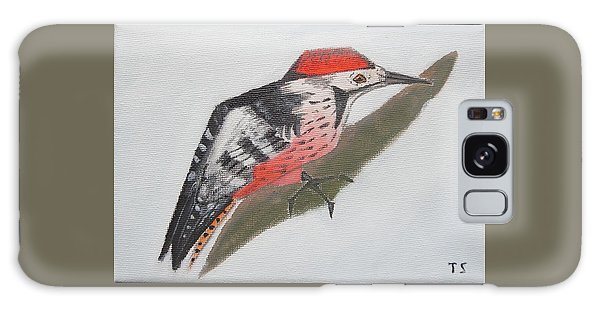 White-backed Woodpecker Galaxy Case