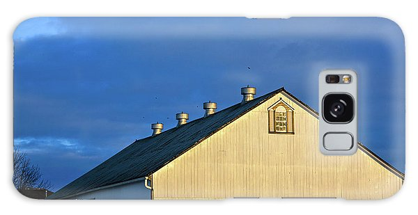 White Barn At Golden Hour Galaxy Case