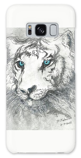 White Bengal Tiger Galaxy Case
