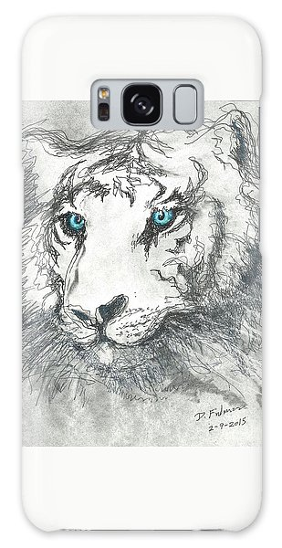 White Bengal Tiger Galaxy Case by Denise Fulmer