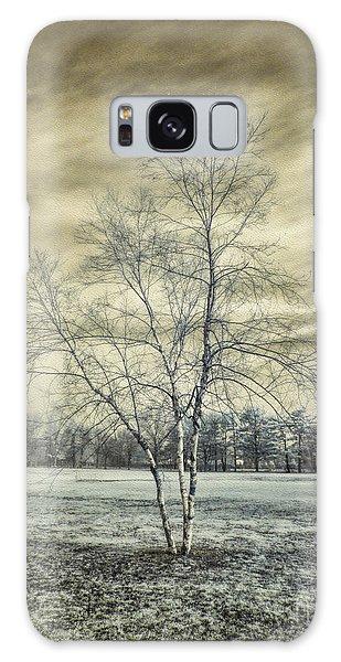 White Birch In Cantiague Park Galaxy Case