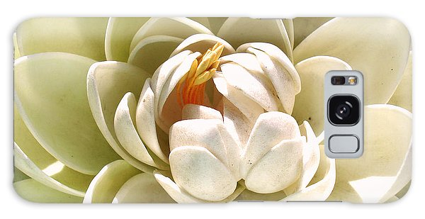 White Blooming Lotus Galaxy Case