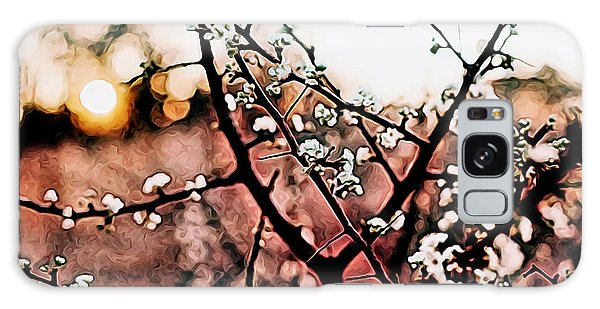 White Blossom Branches Galaxy Case by Carol Crisafi
