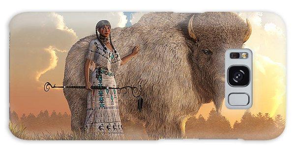 White Buffalo Calf Woman Galaxy Case by Daniel Eskridge