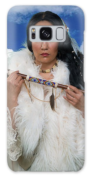 White Buffalo Calf Woman Galaxy Case