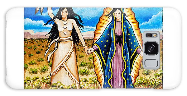 White Buffalo Woman And Guadalupe Galaxy Case