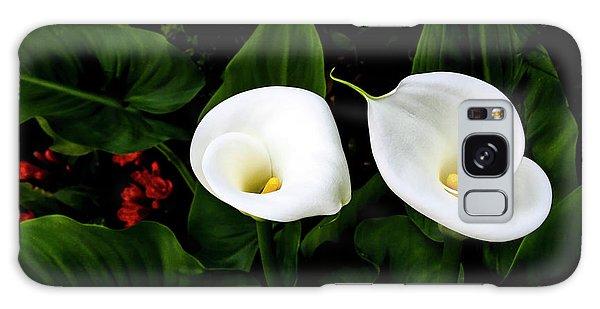 White Calla Lily Galaxy Case