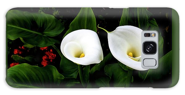 White Calla Lily Galaxy Case