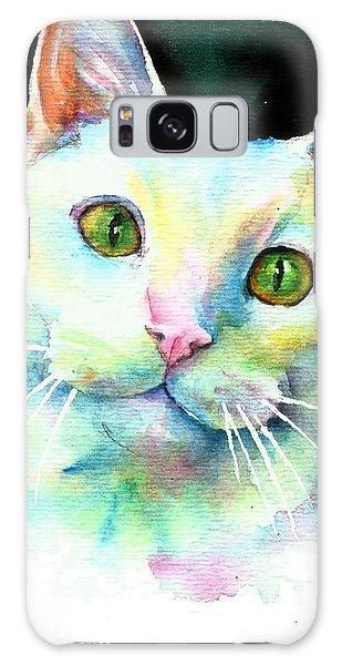 White Cat Galaxy Case by Christy Freeman