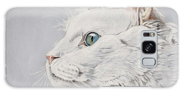 White Cat Galaxy Case