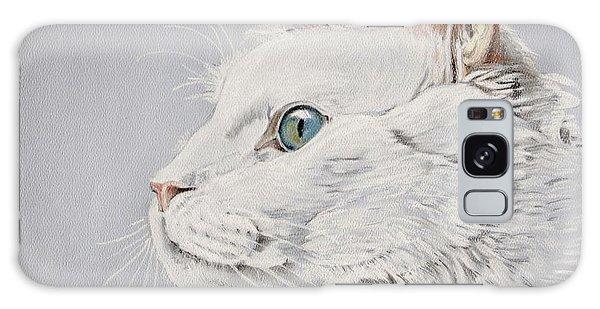 White Cat Galaxy Case